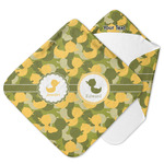 Rubber Duckie Camo Hooded Baby Towel (Personalized)