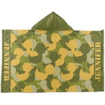 Rubber Duckie Camo Kids Hooded Towel (Personalized)
