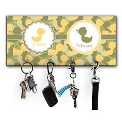 Rubber Duckie Camo Key Hanger w/ 4 Hooks w/ Multiple Names