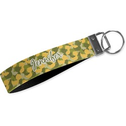Rubber Duckie Camo Webbing Keychain Fob - Small (Personalized)