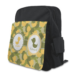 Rubber Duckie Camo Preschool Backpack (Personalized)