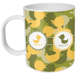 Rubber Duckie Camo Plastic Kids Mug (Personalized)