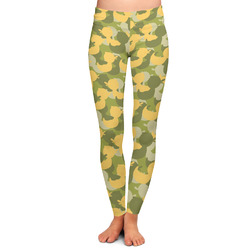 Rubber Duckie Camo Ladies Leggings (Personalized)
