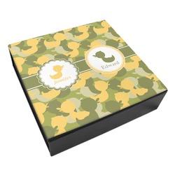 Rubber Duckie Camo Leatherette Keepsake Box - 3 Sizes (Personalized)