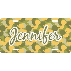 Rubber Duckie Camo Front License Plate (Personalized)