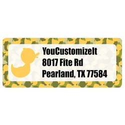 Rubber Duckie Camo Return Address Labels (Personalized)