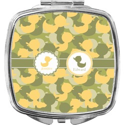 Rubber Duckie Camo Compact Makeup Mirror (Personalized)
