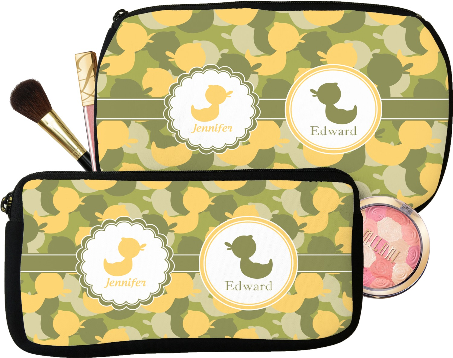54f4b4cb4325 Rubber Duckie Camo Makeup   Cosmetic Bag (Personalized) - YouCustomizeIt