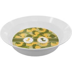 Rubber Duckie Camo Melamine Bowl (Personalized)