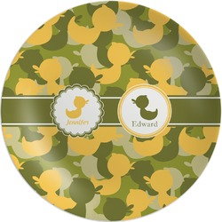 Rubber Duckie Camo Melamine Plate (Personalized)