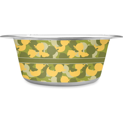 Rubber Duckie Camo Stainless Steel Dog Bowl (Personalized)