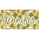 Rubber Duckie Camo Mini / Bicycle License Plate (Personalized)