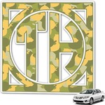 Rubber Duckie Camo Monogram Car Decal (Personalized)