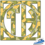 Rubber Duckie Camo Monogram Iron On Transfer (Personalized)