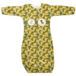 Rubber Duckie Camo Newborn Gown (Personalized)