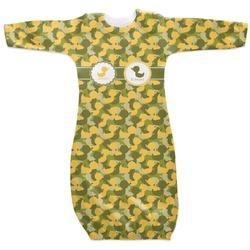 Rubber Duckie Camo Newborn Gown (Personalized)