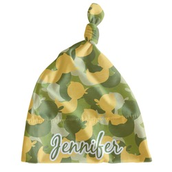 Rubber Duckie Camo Newborn Hat - Knotted (Personalized)