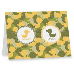 Rubber Duckie Camo Note cards (Personalized)