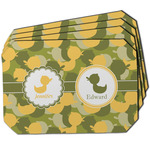 Rubber Duckie Camo Dining Table Mat - Octagon w/ Multiple Names