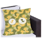 Rubber Duckie Camo Outdoor Pillow (Personalized)