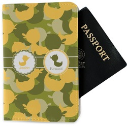 Rubber Duckie Camo Passport Holder - Fabric (Personalized)