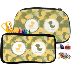 Rubber Duckie Camo Pencil / School Supplies Bag (Personalized)