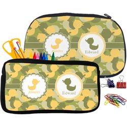 Rubber Duckie Camo Pencil / School Supplies Bag (Personalized)