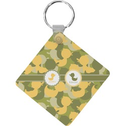 Rubber Duckie Camo Diamond Key Chain (Personalized)