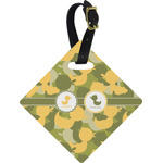 Rubber Duckie Camo Diamond Luggage Tag (Personalized)