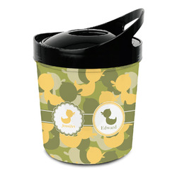 Rubber Duckie Camo Plastic Ice Bucket (Personalized)