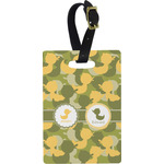 Rubber Duckie Camo Rectangular Luggage Tag (Personalized)