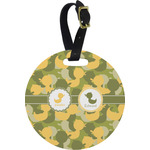 Rubber Duckie Camo Round Luggage Tag (Personalized)