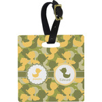 Rubber Duckie Camo Square Luggage Tag (Personalized)