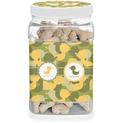 Rubber Duckie Camo Dog Treat Jar (Personalized)