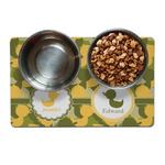Rubber Duckie Camo Dog Food Mat (Personalized)
