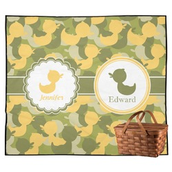 Rubber Duckie Camo Outdoor Picnic Blanket (Personalized)