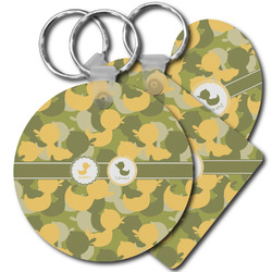 Rubber Duckie Camo Plastic Keychains (Personalized)