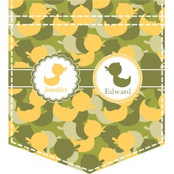 Rubber Duckie Camo Iron On Faux Pocket (Personalized)