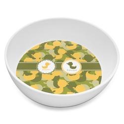 Rubber Duckie Camo Melamine Bowl 8oz (Personalized)