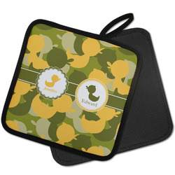 Rubber Duckie Camo Pot Holder w/ Multiple Names