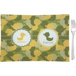 Rubber Duckie Camo Glass Rectangular Appetizer / Dessert Plate - Single or Set (Personalized)