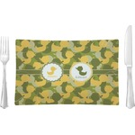 Rubber Duckie Camo Glass Rectangular Lunch / Dinner Plate - Single or Set (Personalized)