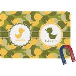 Rubber Duckie Camo Rectangular Fridge Magnet (Personalized)