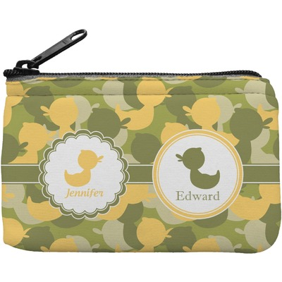 Rubber Duckie Camo Rectangular Coin Purse (Personalized)