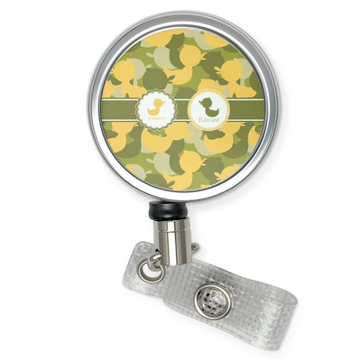 Rubber Duckie Camo Retractable Badge Reel (Personalized)