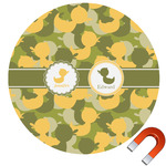 Rubber Duckie Camo Round Car Magnet (Personalized)