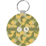 Rubber Duckie Camo Round Keychain (Personalized)