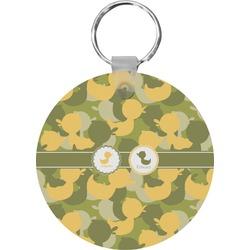 Rubber Duckie Camo Round Keychain (Personalized)