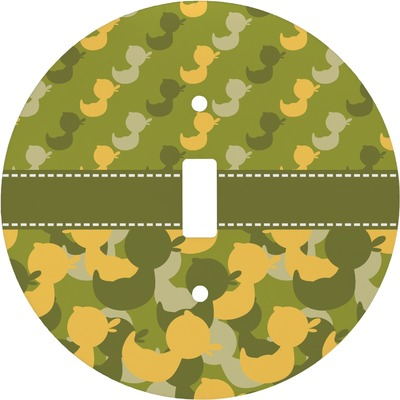 Rubber Duckie Camo Round Light Switch Cover (Personalized)