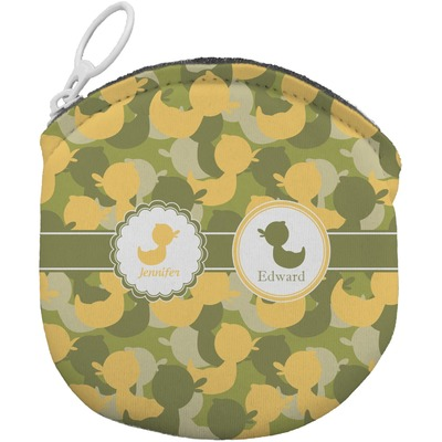 Rubber Duckie Camo Round Coin Purse (Personalized)